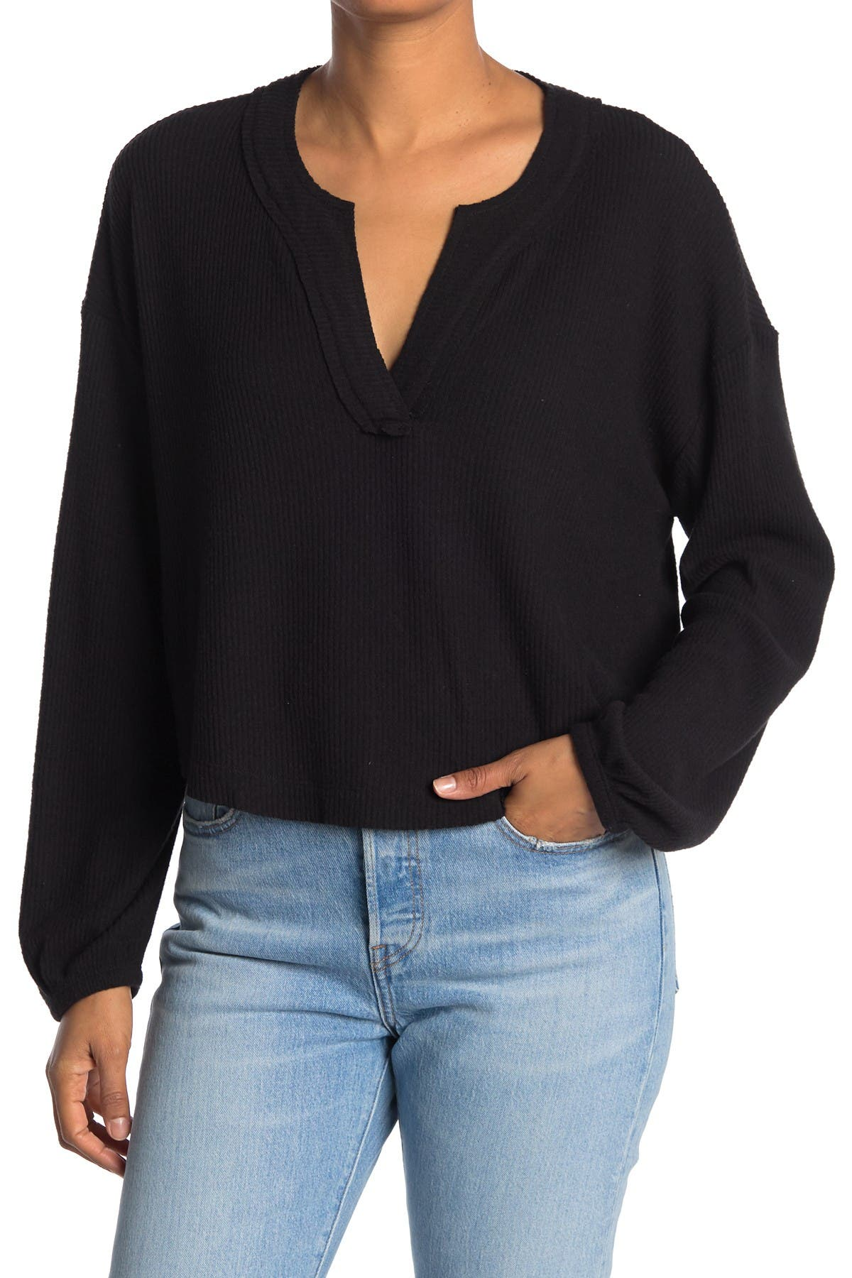 Image of Abound Cozy V-Neck Long Sleeve T-Shirt