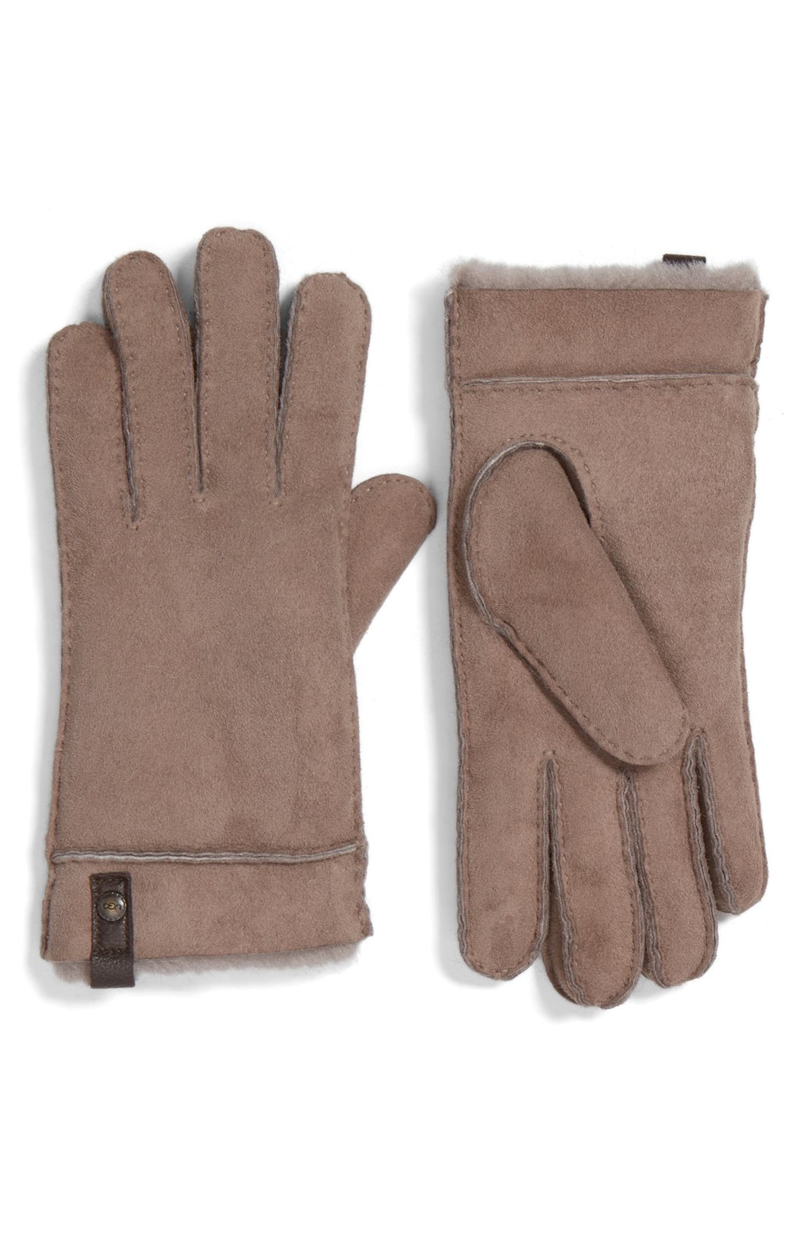 53b829412 UGG® Australia 'Tenney' Genuine Shearling Gloves | Nordstrom