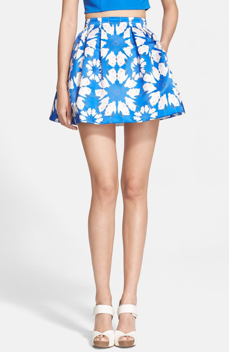 ALICE + OLIVIA 'Connor' Flared Skirt, Main, color, 400