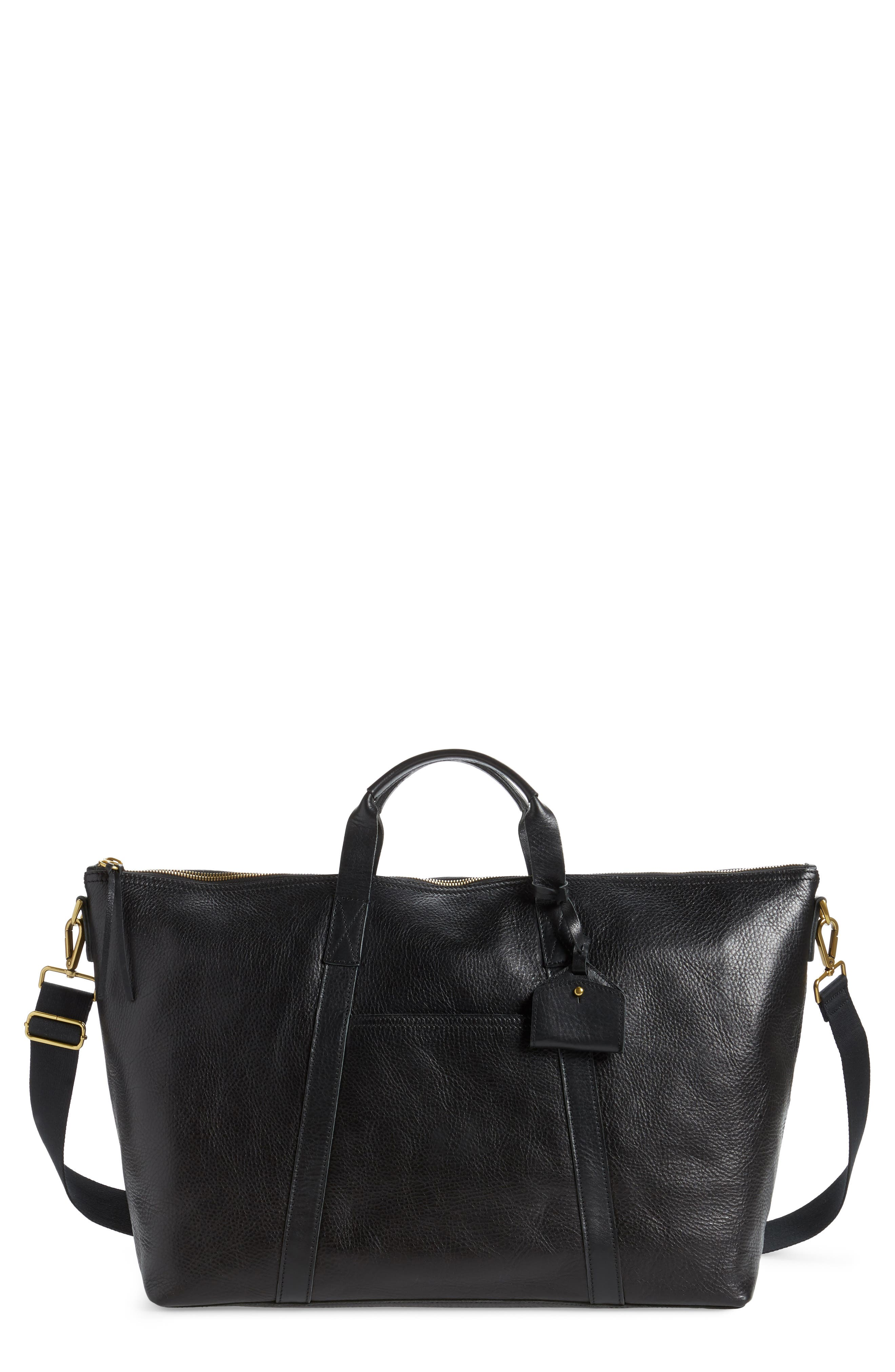 Essential Leather Overnight Bag