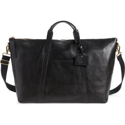 Madewell Essential Leather Overnight Bag - Black