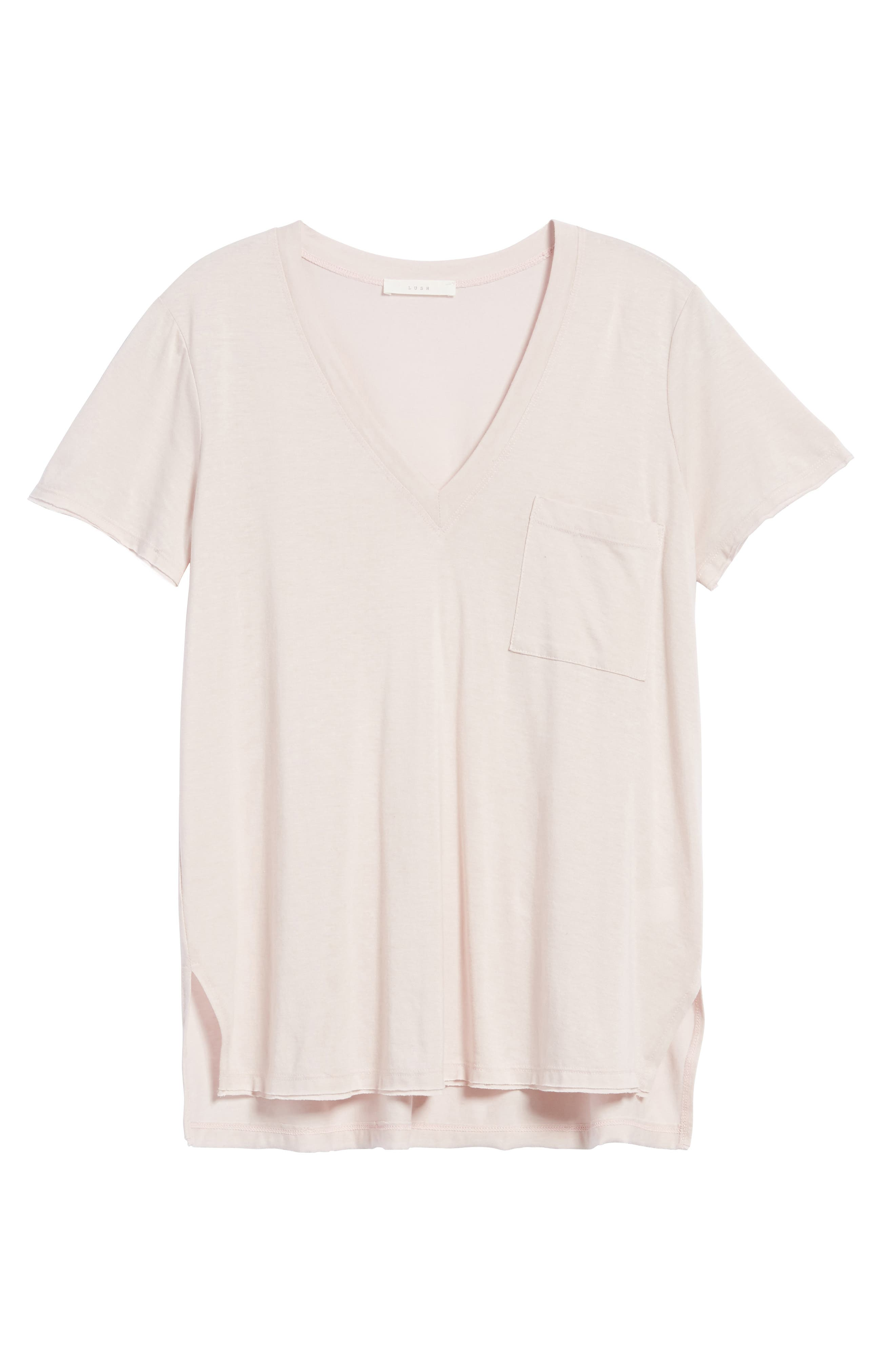 ,                             Raw Edge Side Slit Tee,                             Alternate thumbnail 18, color,                             680