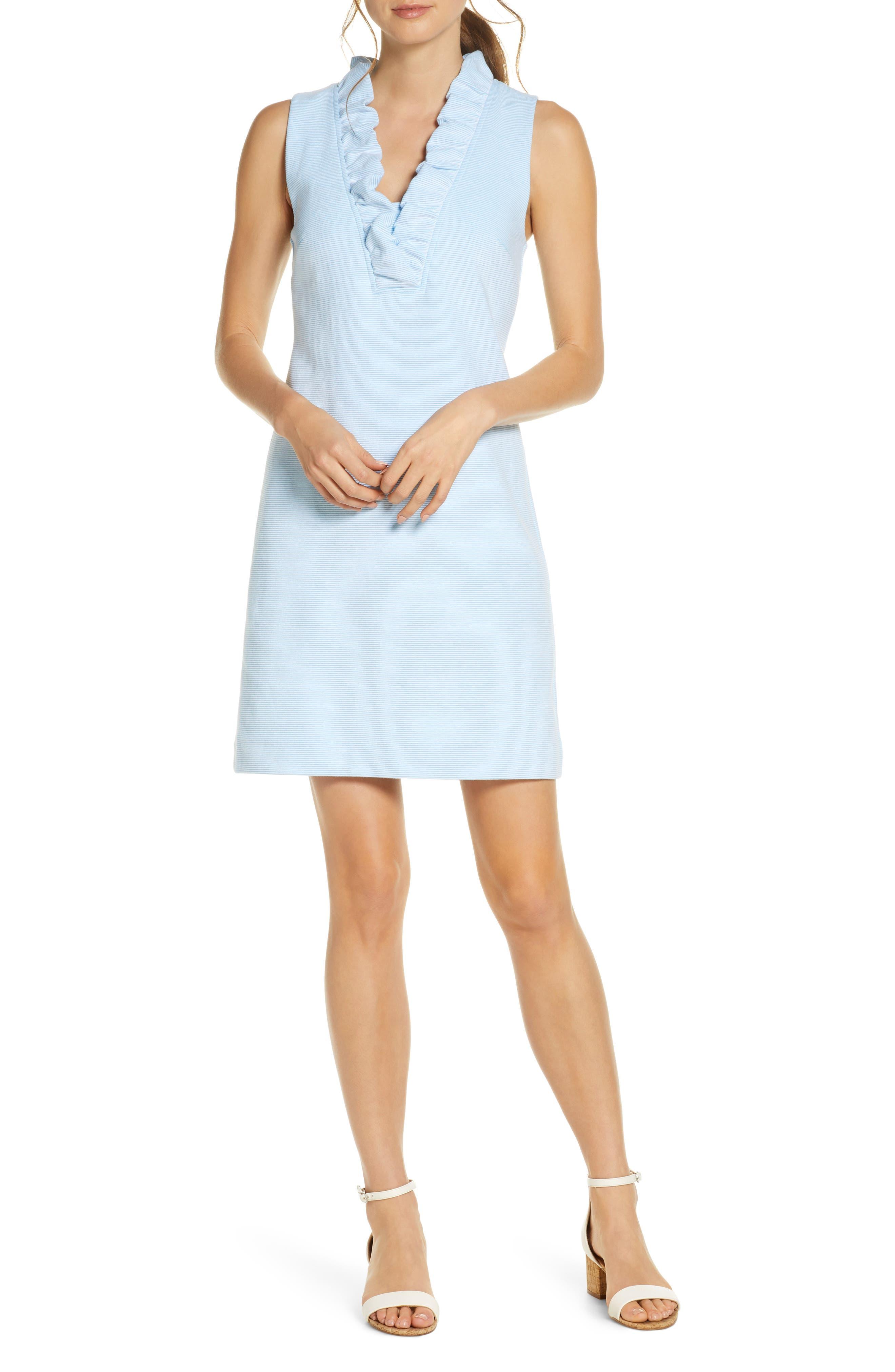 Women's Lilly Pulitzer Tisbury Stripe Ruffle Neck Dress