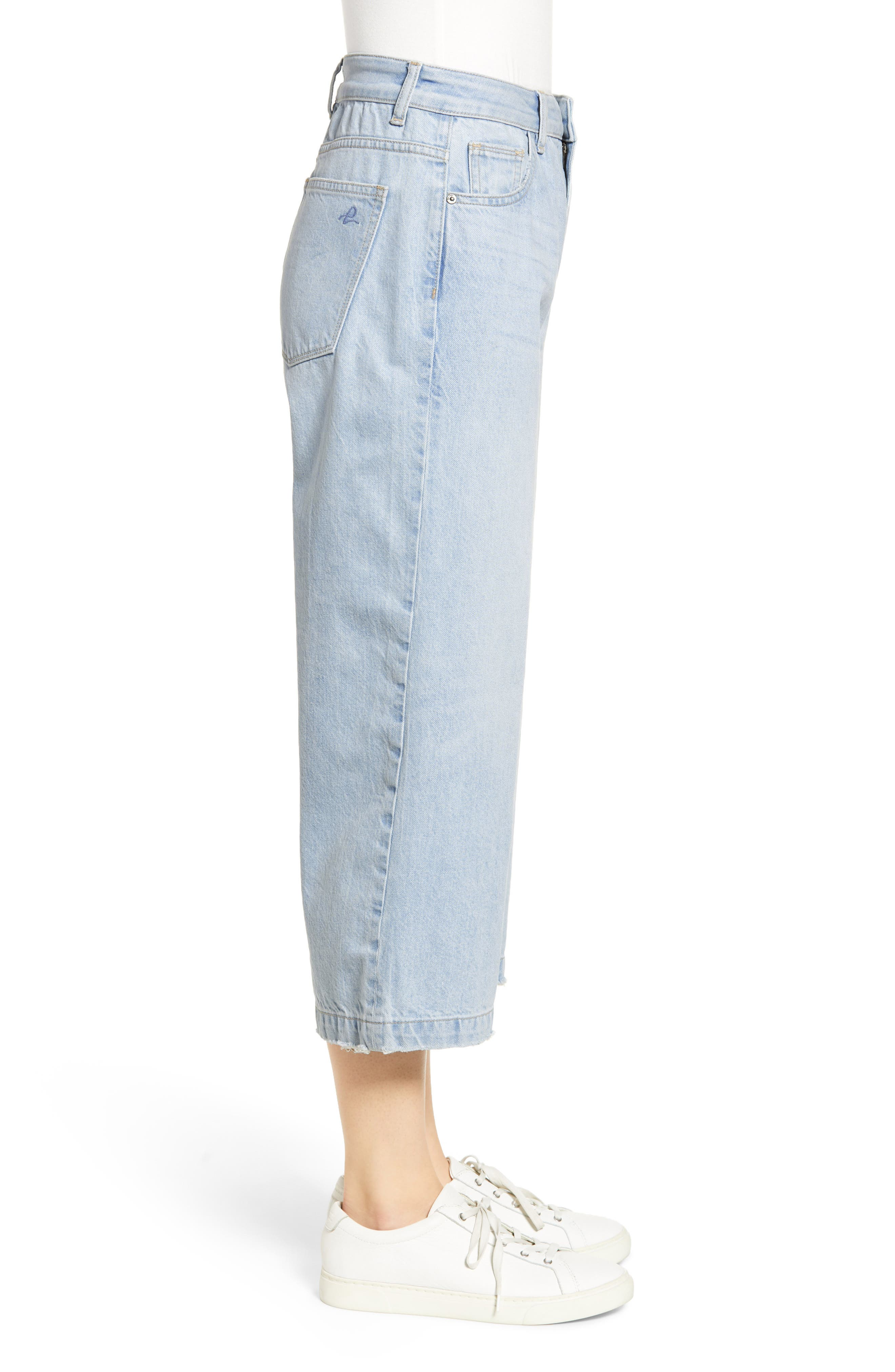 ,                             Hepburn High Waist Crop Wide Leg Jeans,                             Alternate thumbnail 4, color,                             429