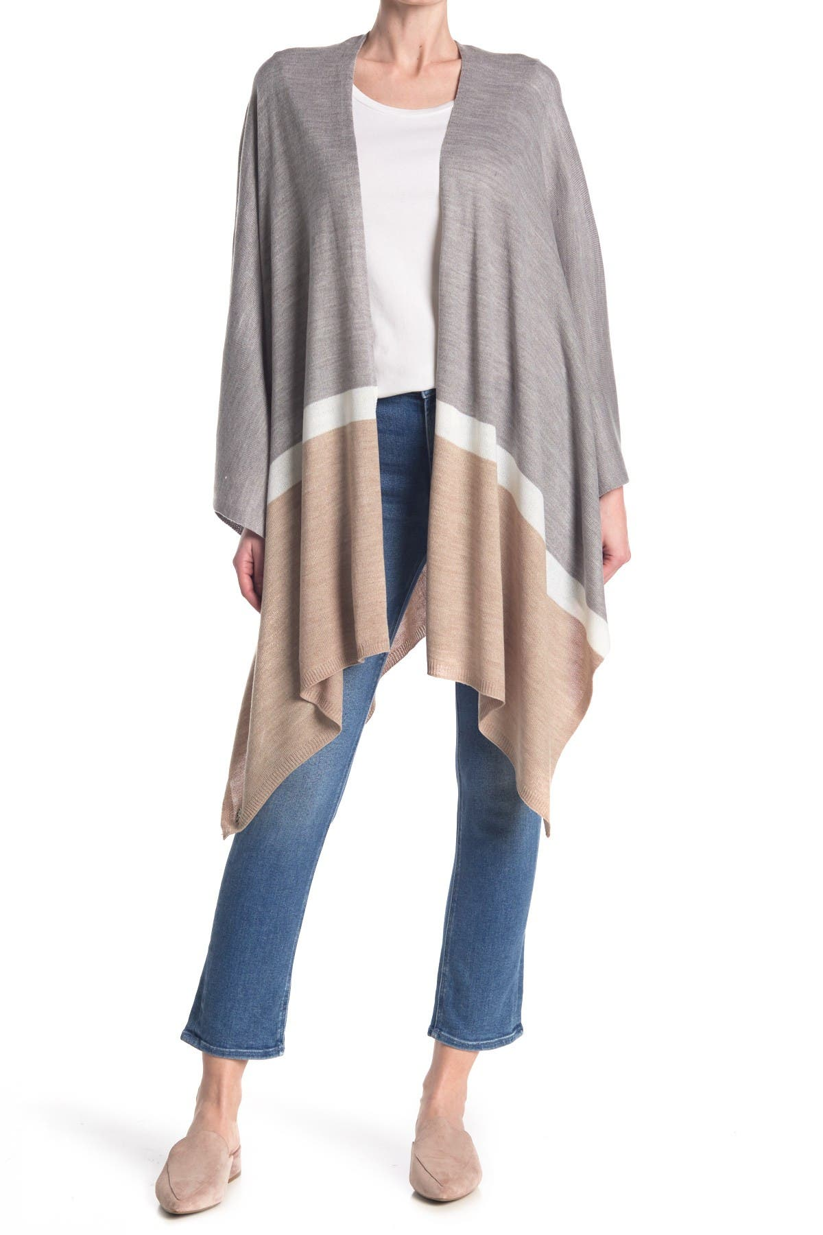 Image of Calvin Klein Colorblock Shawl