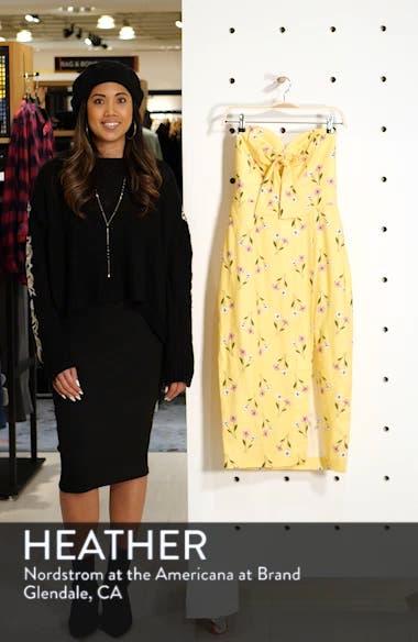 Limoncello Strapless Midi Dress, sales video thumbnail