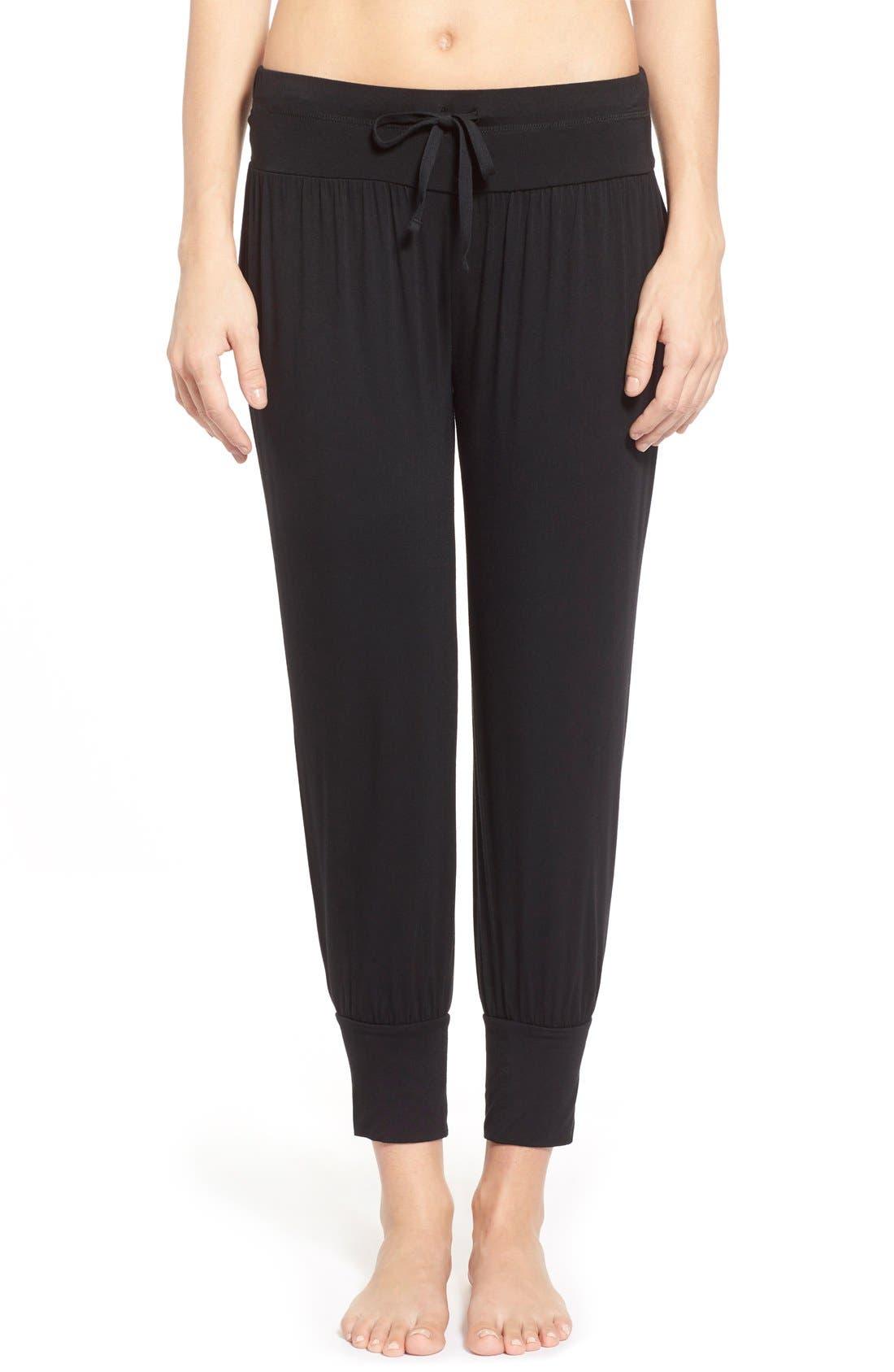 Splendid Womens Open Leg Crop Pajama Pant Pj