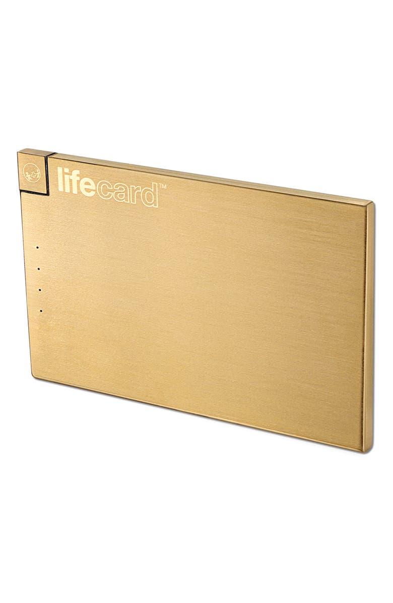 PLUSUS Lifecard Lightning External Battery, Main, color, GOLD