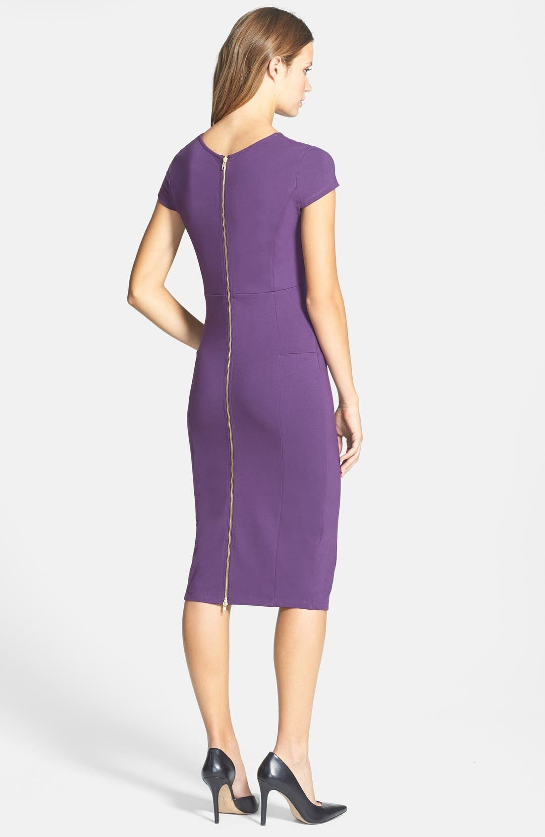 ,                             Ward Seamed Pencil Dress,                             Alternate thumbnail 43, color,                             500