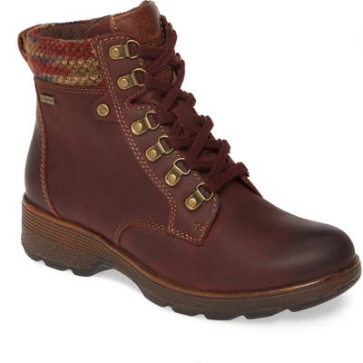 Bionica Everson Waterproof Bootie- Burgundy