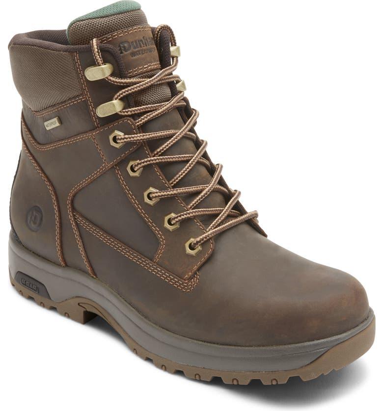 DUNHAM 8000 Works Waterproof Plain Toe Boot, Main, color, Brown