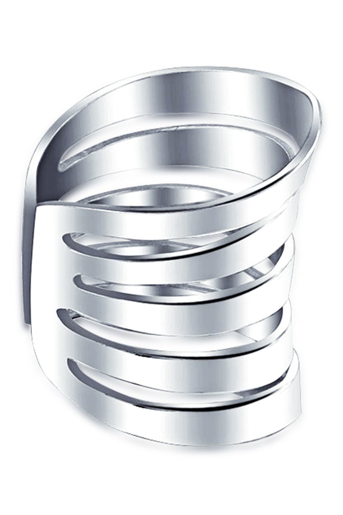 Image of Bling Jewelry Sterling Silver Geometric Sliced Single Cuff Earring