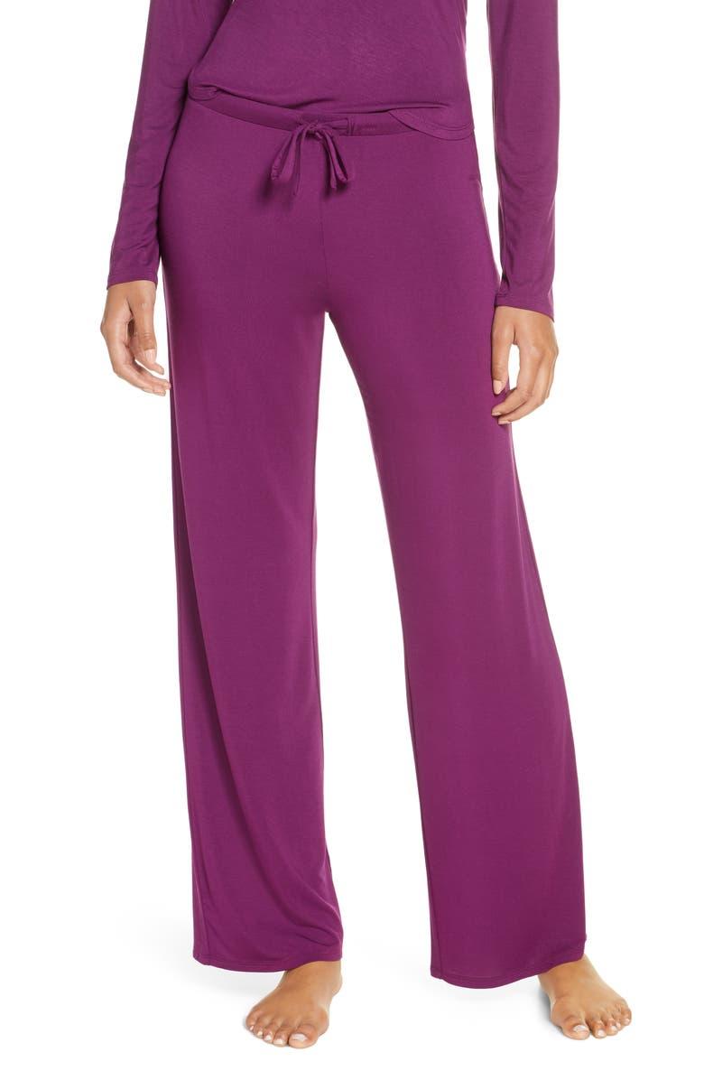 NORDSTROM Moonlight Pajama Pants, Main, color, PURPLE DARK