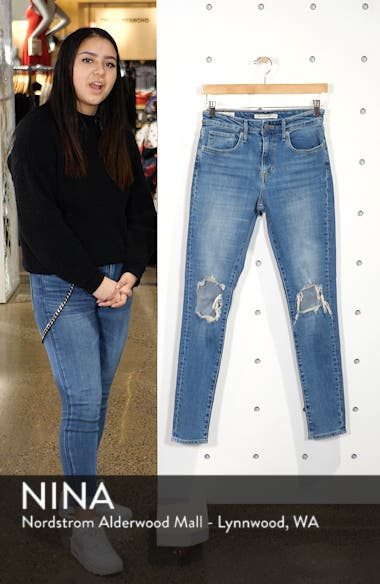 721 Ripped High Waist Skinny Jeans, sales video thumbnail