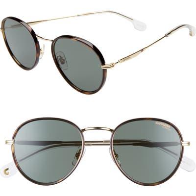 Carrera Eyewear 52Mm Round Sunglasses - Gold Green