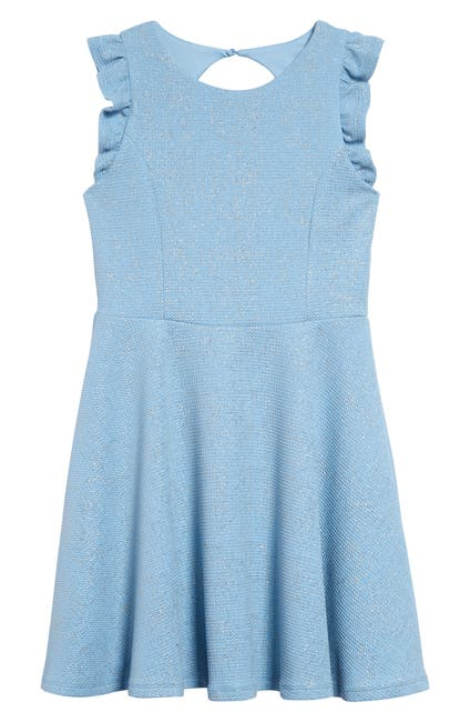 Image of AVA AND YELLY Flutter Sleeve Fit & Flare Dress