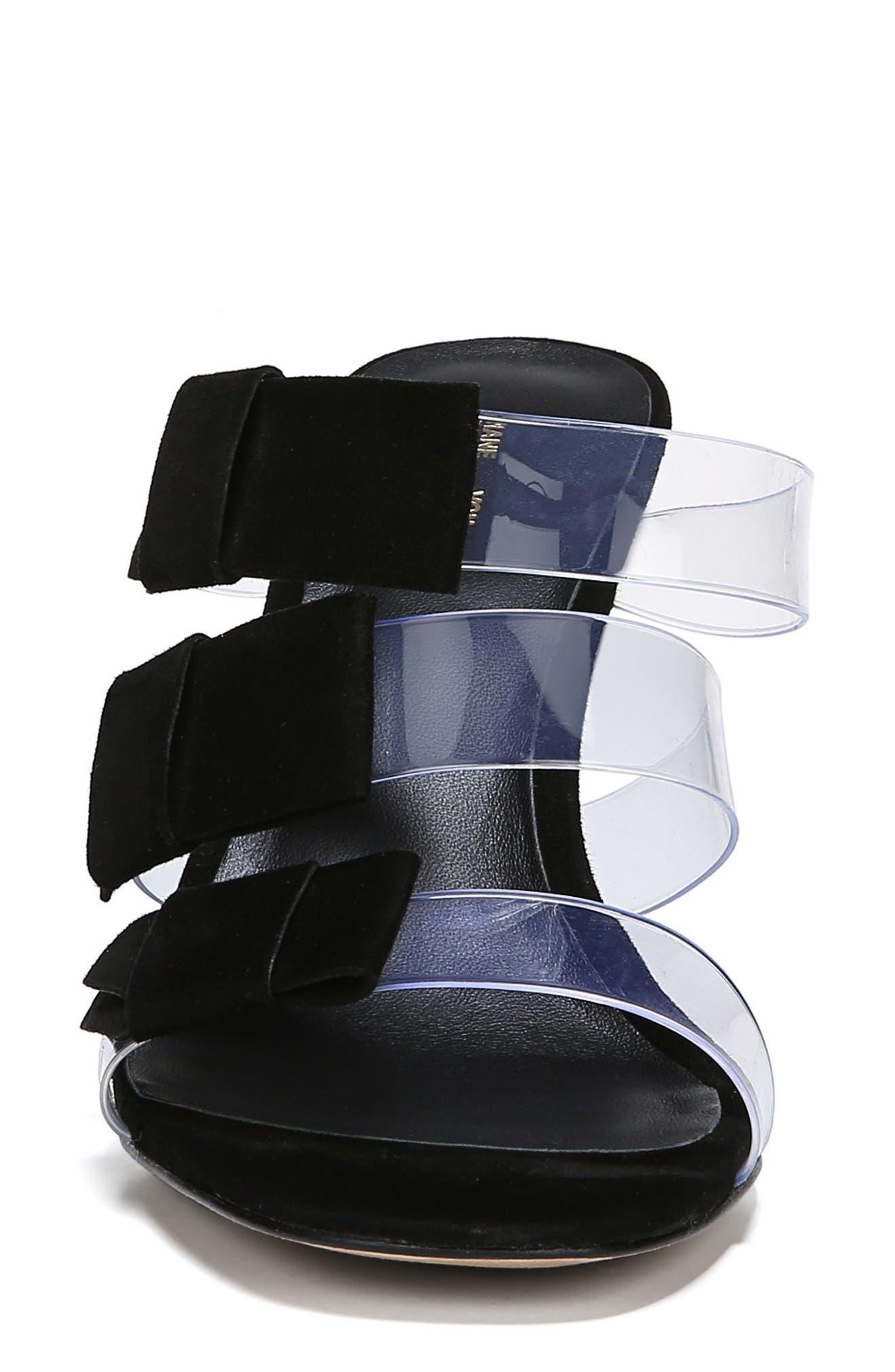 ,                             Amari Triple Strap Sandal,                             Alternate thumbnail 4, color,                             BLACK