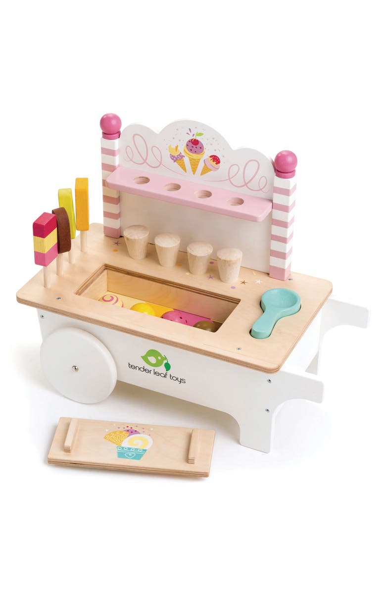 TENDER LEAF TOYS Ice Cream Cart Play Set, Main, color, MULTI