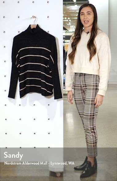 Sydney Metallic Stripe Turtleneck Sweater, sales video thumbnail