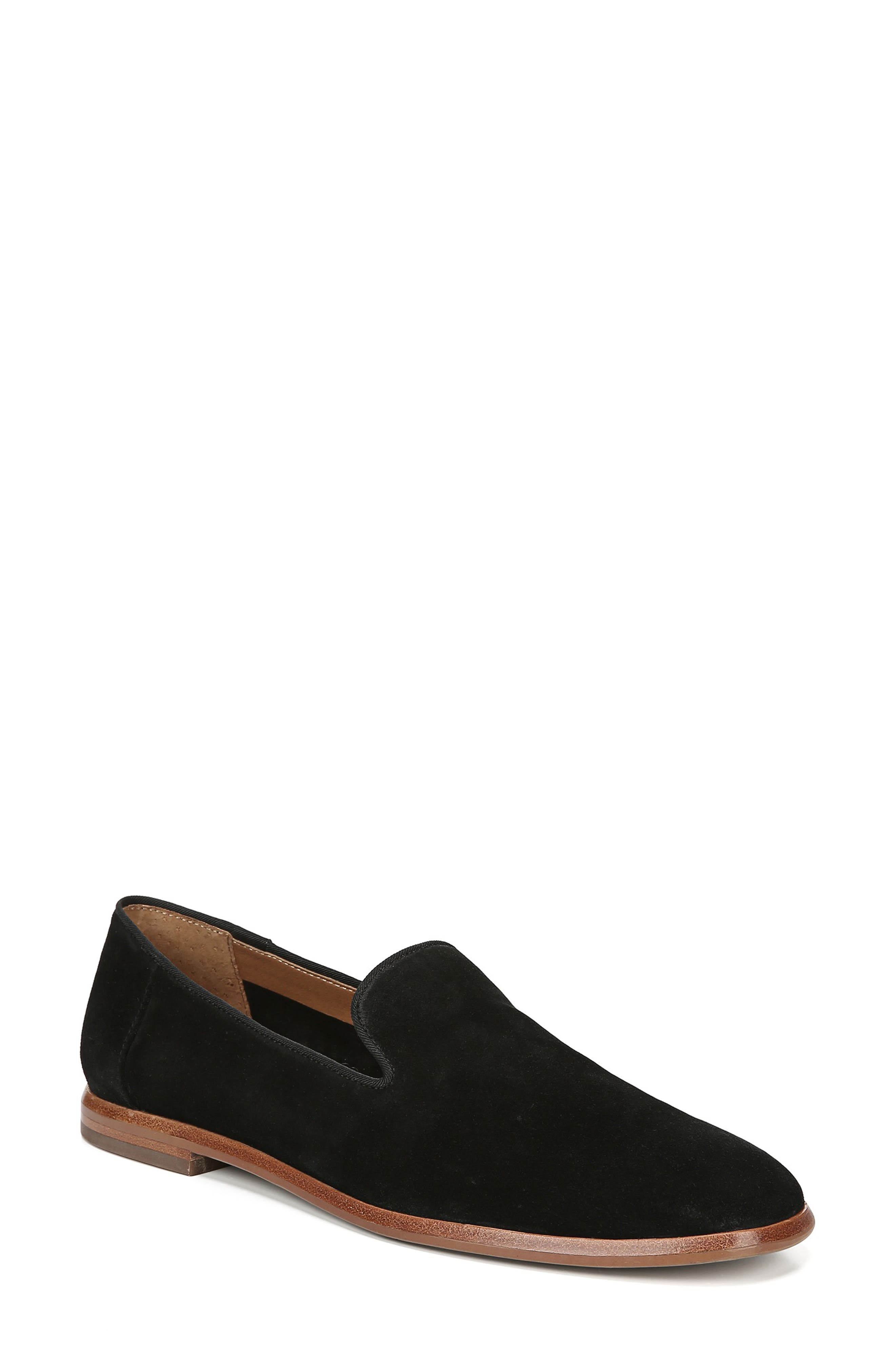 Fallon Loafer, Main, color, BLACK SUEDE