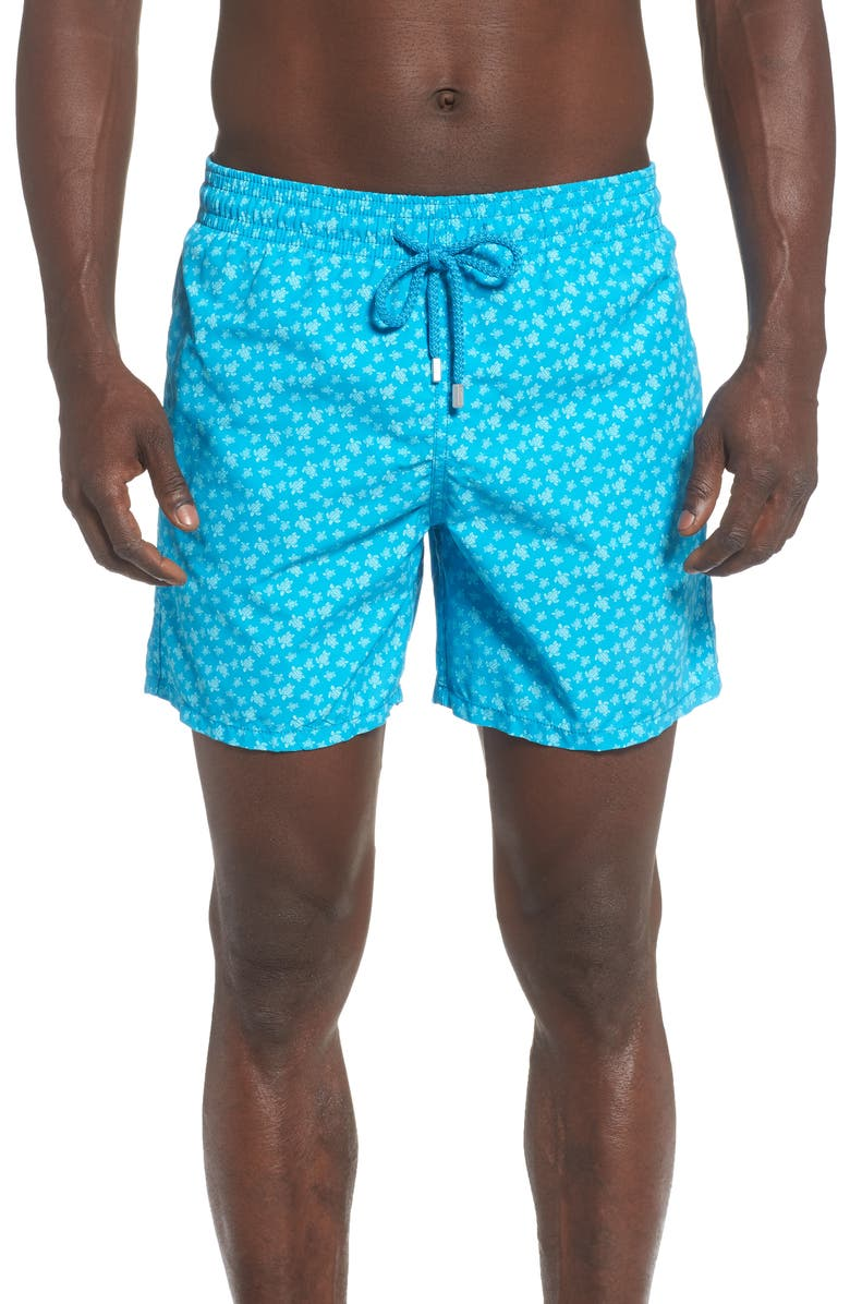 VILEBREQUIN Moorea Micro Turtle Print Swim Trunks, Main, color, 433