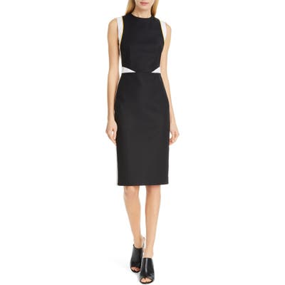 Judith & Charles Tilberg Colorblock Sheath Dress, Black