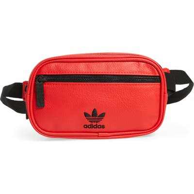 Adidas Faux Leather Belt Bag - Red