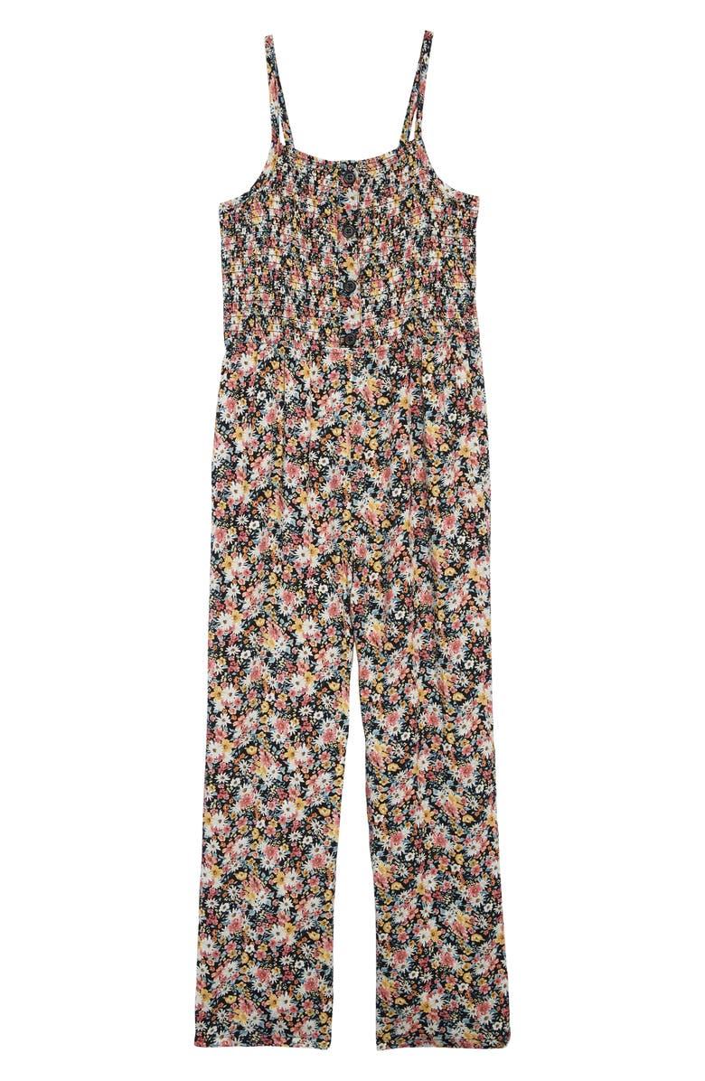 MIA CHICA Floral Print Jumpsuit, Main, color, 001