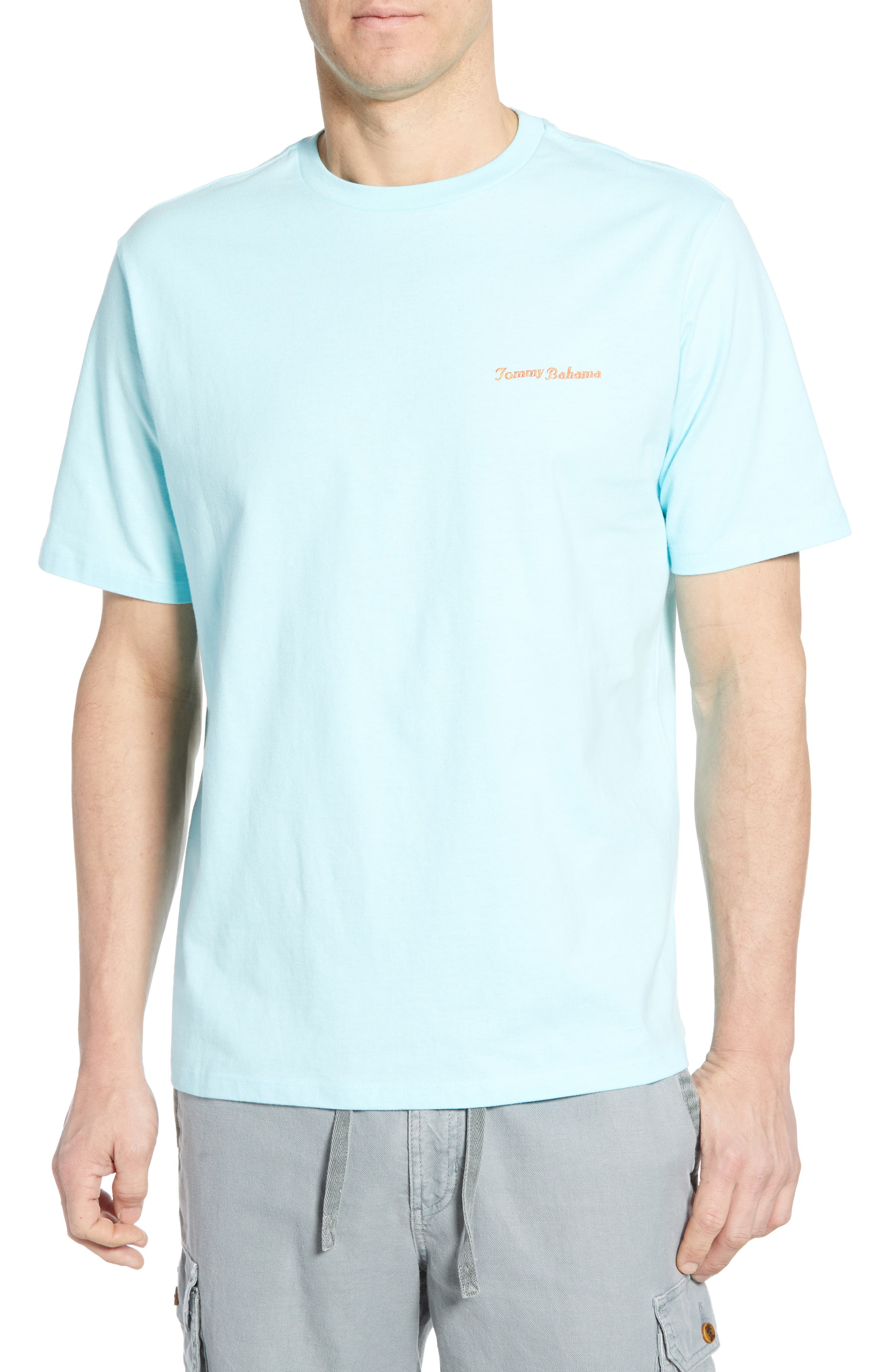 First on the Board Graphic T-Shirt, Main, color, SEA SPRITE BLUE