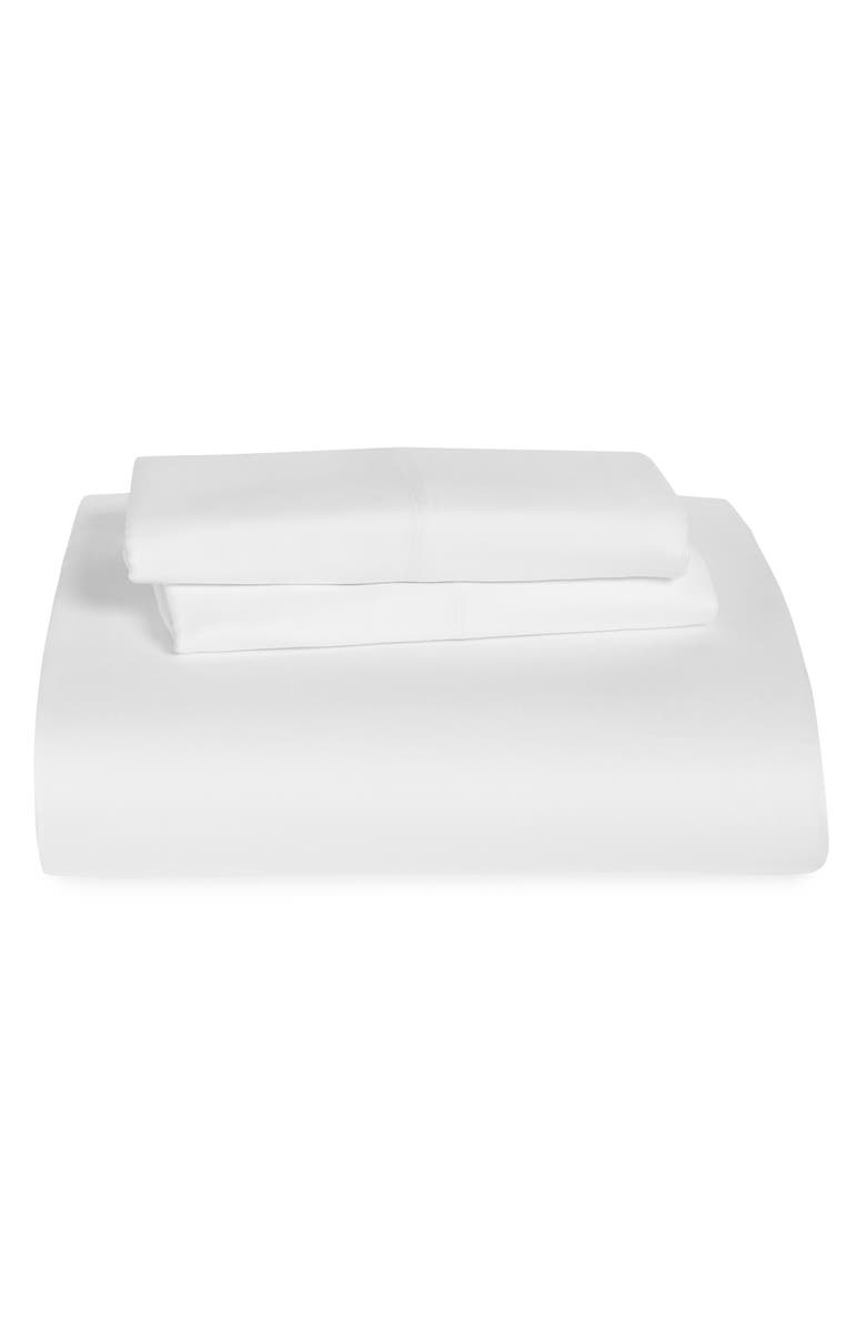 BP. Sateen Fitted Sheet & Pillowcase Set, Main, color, WHITE