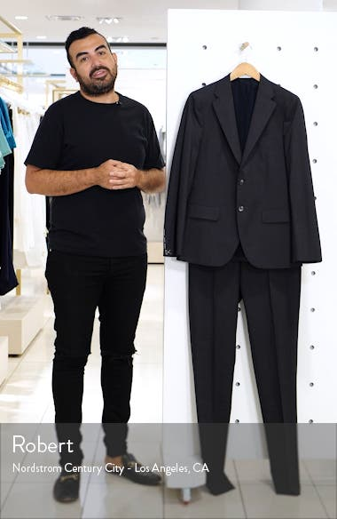 Milano Slim Fit Solid Wool Suit, sales video thumbnail
