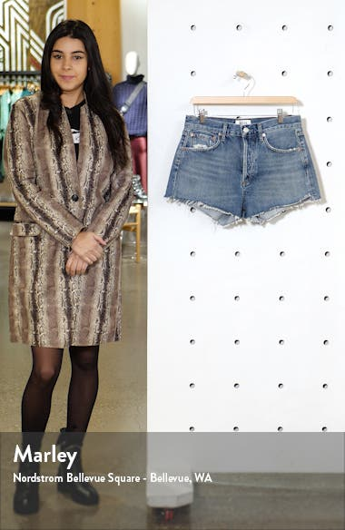 Parker Organic Cotton Cutoff Denim Shorts, sales video thumbnail