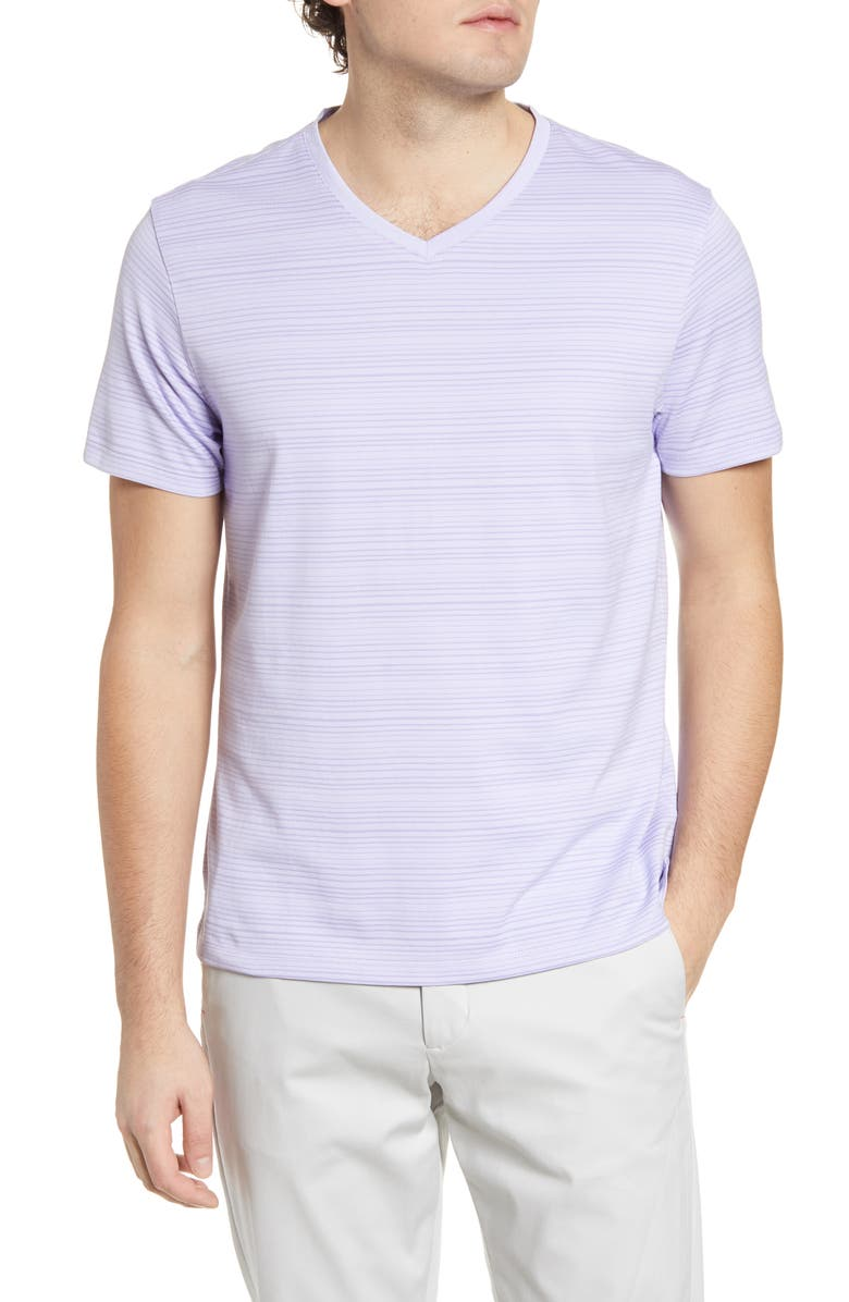 ROBERT BARAKETT Augustus Stripe V-Neck T-Shirt, Main, color, 531