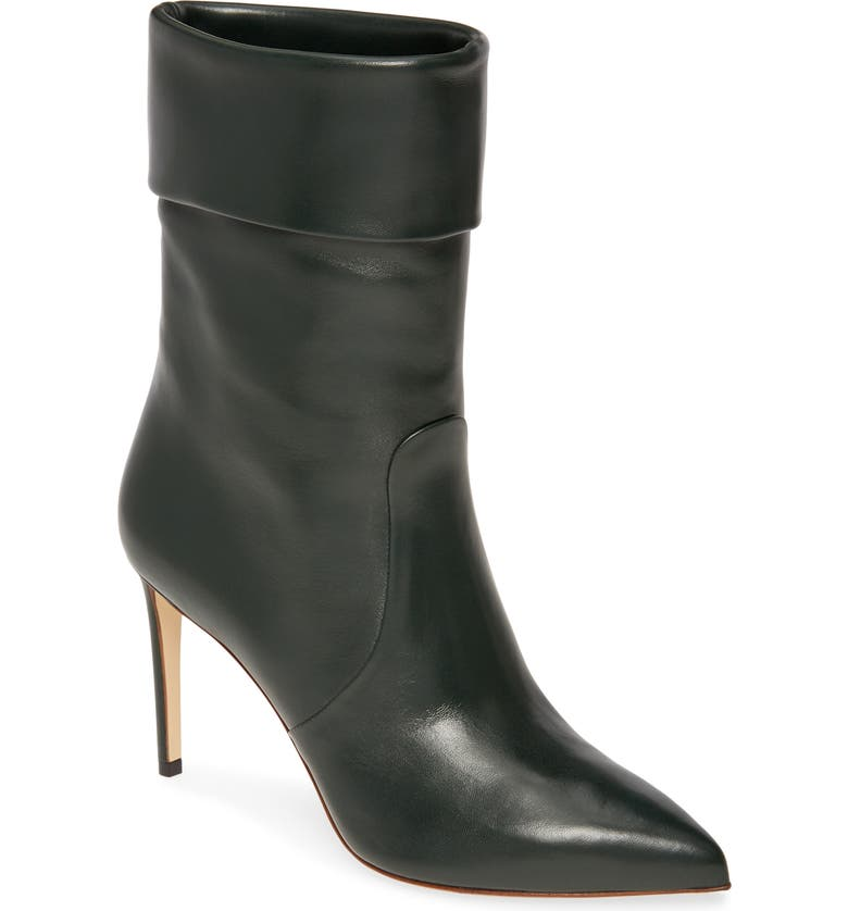 FRANCESCO RUSSO Slouch Pointy Toe Bootie, Main, color, ENGLISH GREEN