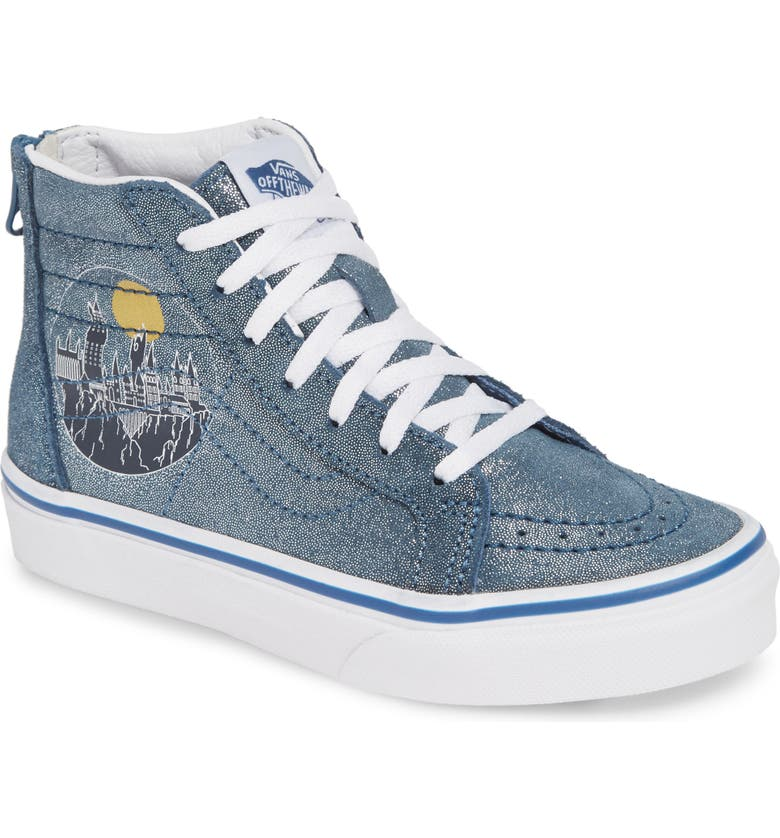 VANS x Harry Potter Sk8-Hi Zip Sneaker, Main, color, HOGWARTS/ METALLIC