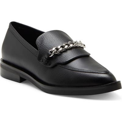 Rebecca Minkoff Pacey Chain Pointed Toe Loafer- Black