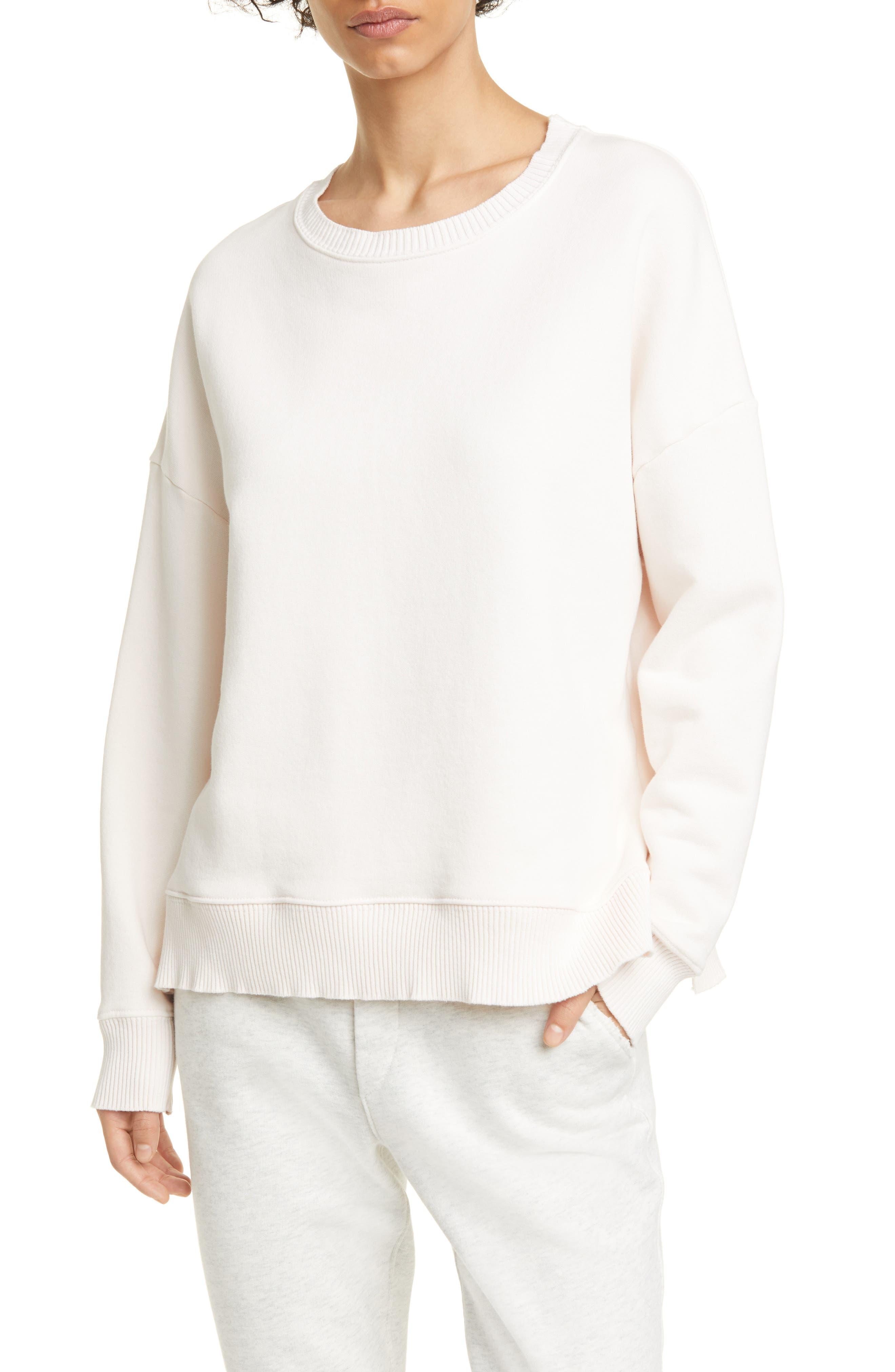Image of FRANK & EILEEN Ribbed Fleece Pullover Sweatshirt