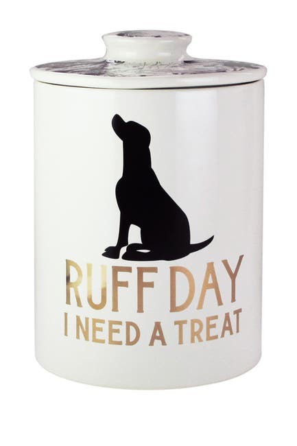Image of Jay Import Everyday Treat Pet Canister - Marble/Gold