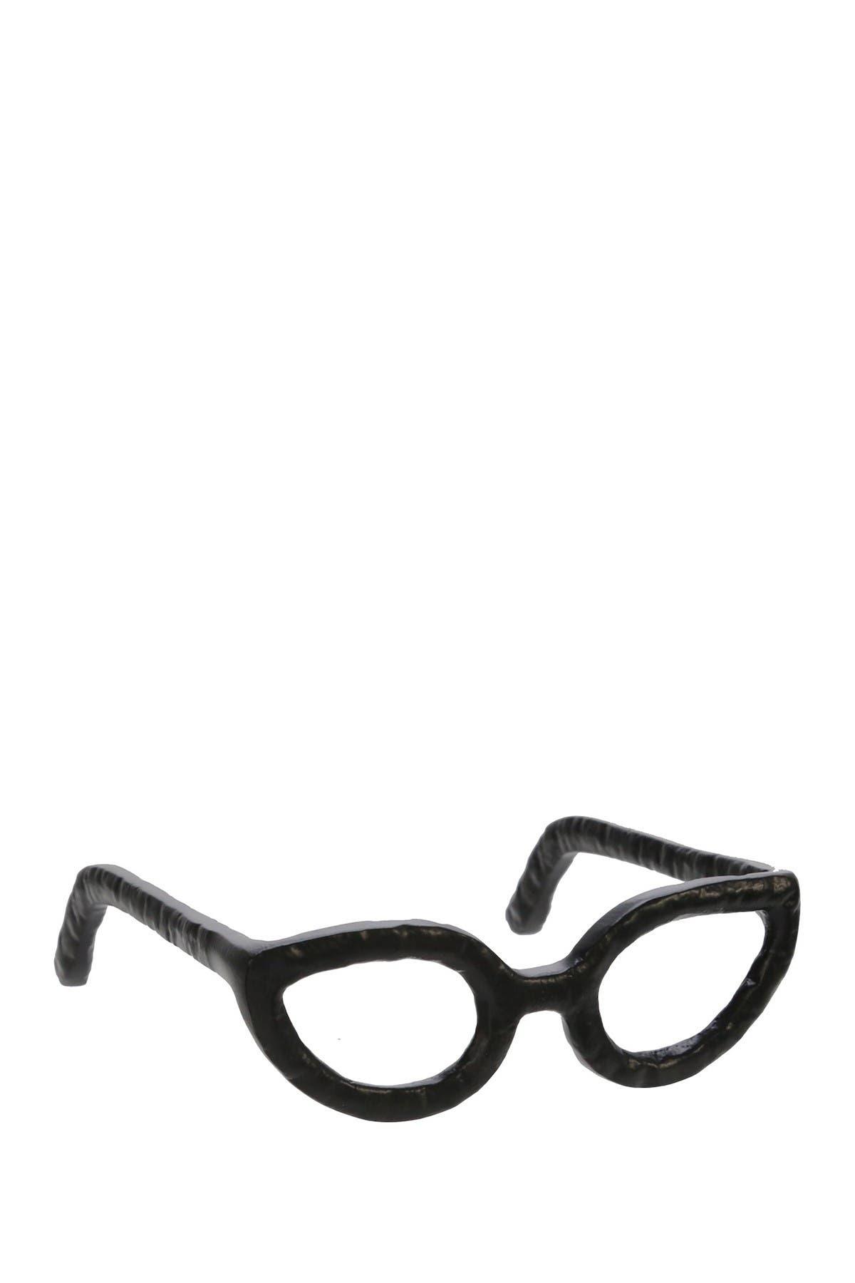 Image of SAGEBROOK HOME Aluminum Glasses Sculpture - Black
