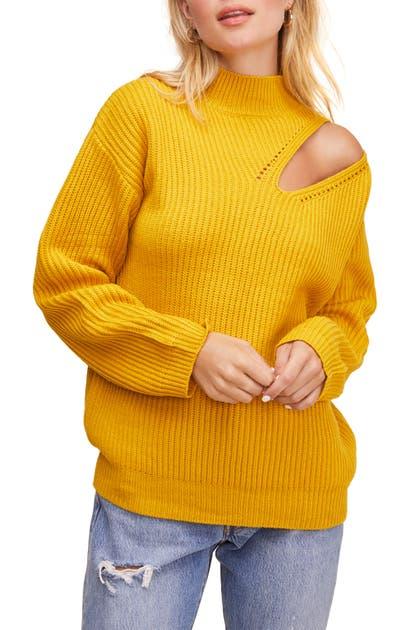 Astr Sweaters CUTOUT TURTLENECK SWEATER