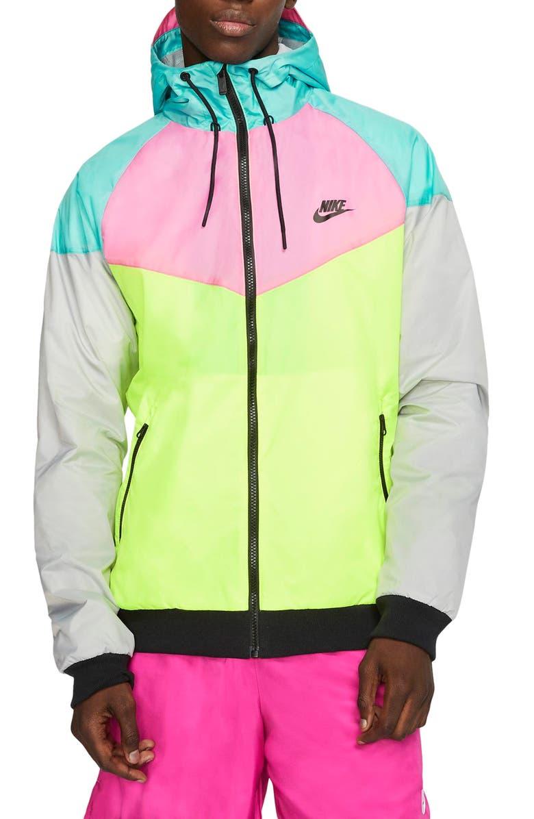 NIKE Color Hooks Windrunner Jacket, Main, color, 662