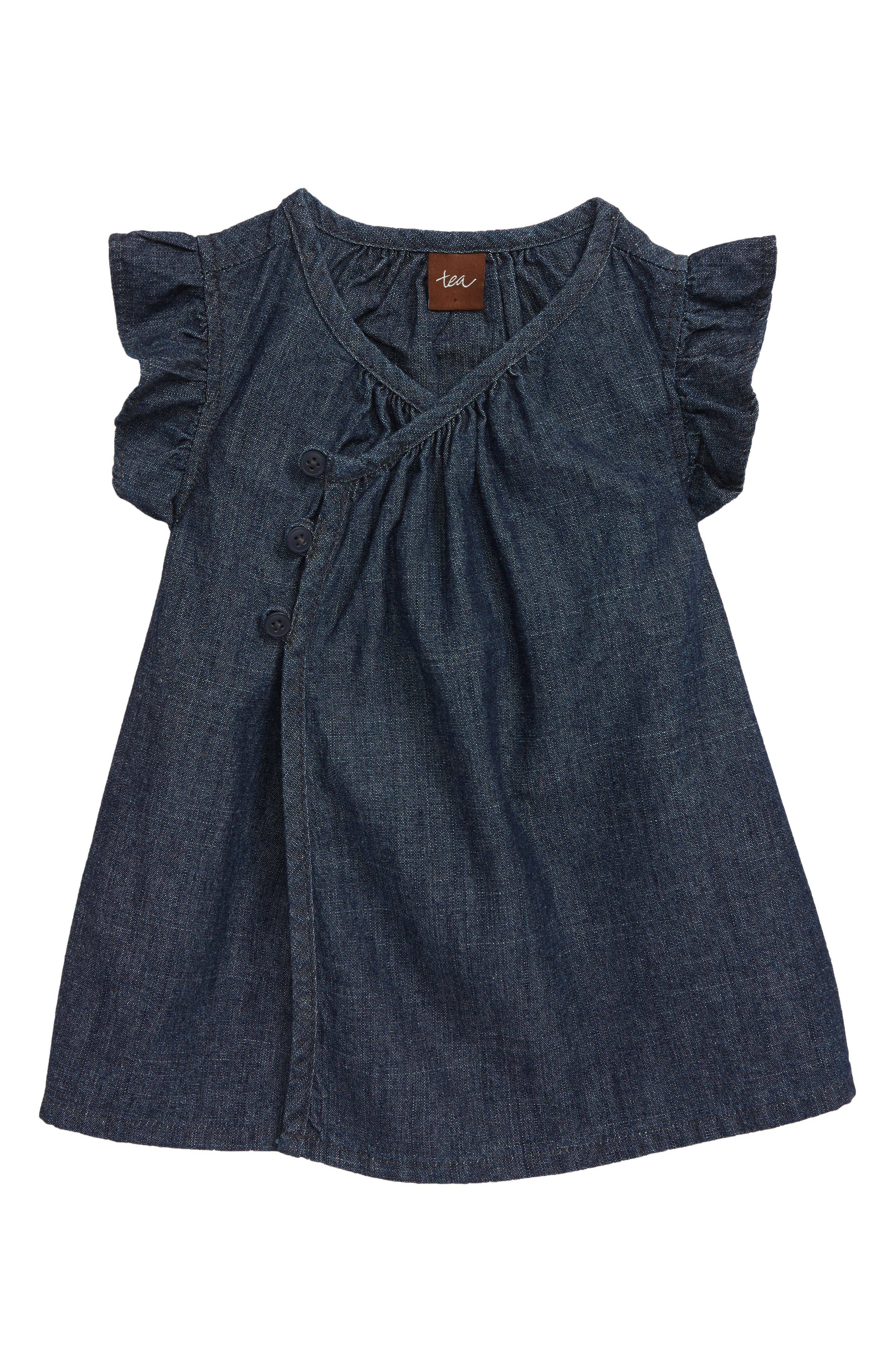 Infant Girls Tea Collection Chambray Tunic Size 1824M  Blue