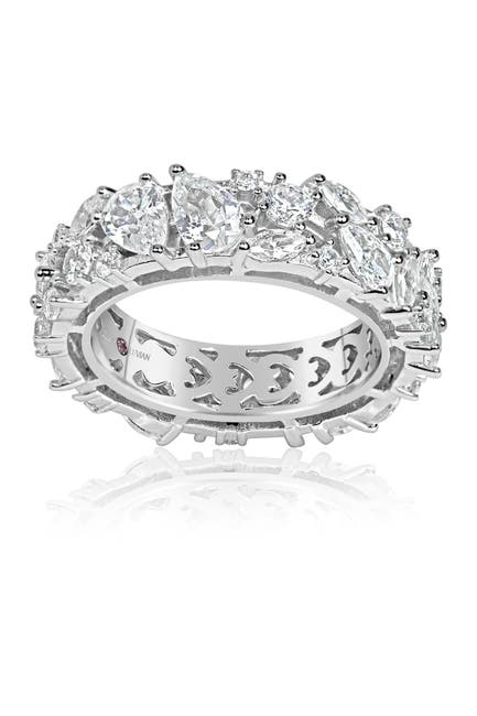 Image of Suzy Levian Sterling Silver CZ Eternity Band