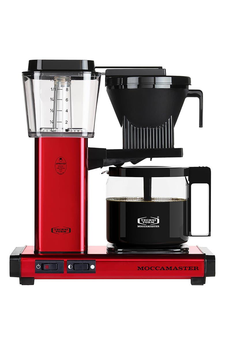 MOCCAMASTER KBG Coffee Brewer, Main, color, RED METALLIC