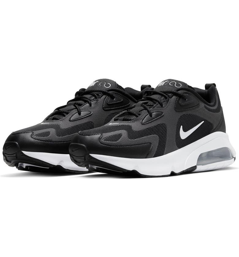 NIKE Air Max 200 Sneaker, Main, color, BLACK/ OFF NOIR/ SILVER/ WHITE