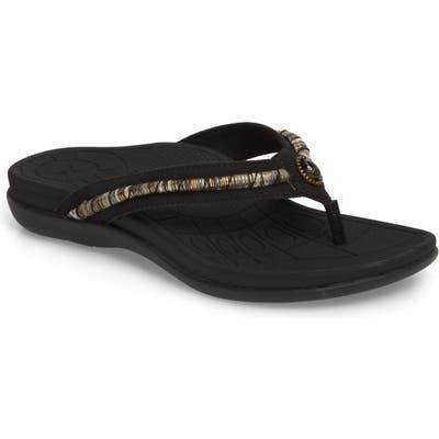 Aetrex Hazel Water Friendly Flip Flop, Black