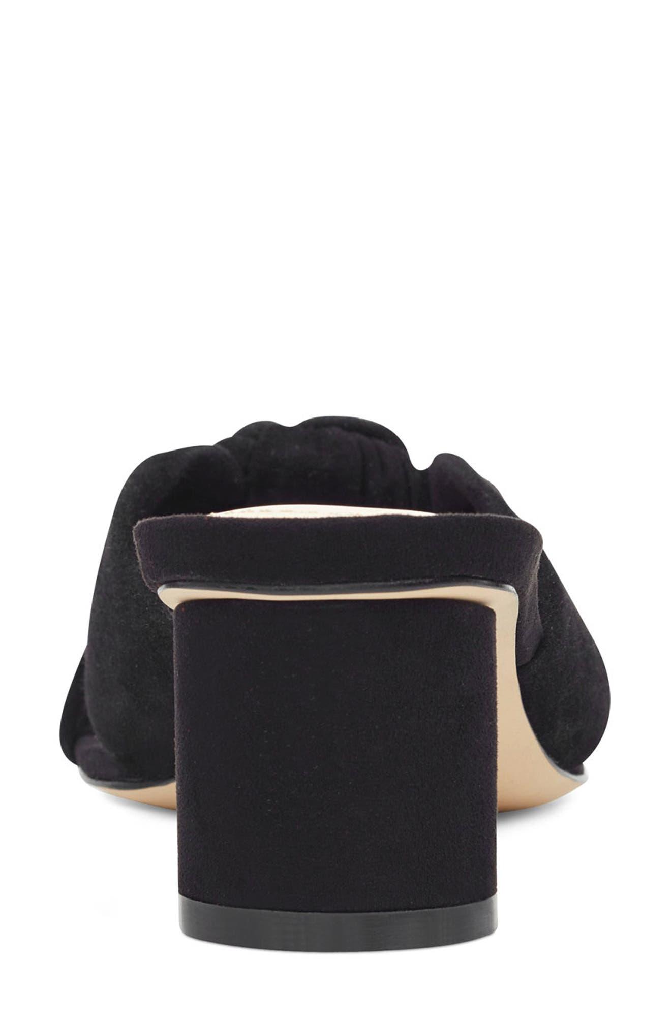 ,                             Kayla Knot Slip-On Sandal,                             Alternate thumbnail 6, color,                             BLACK SUEDE