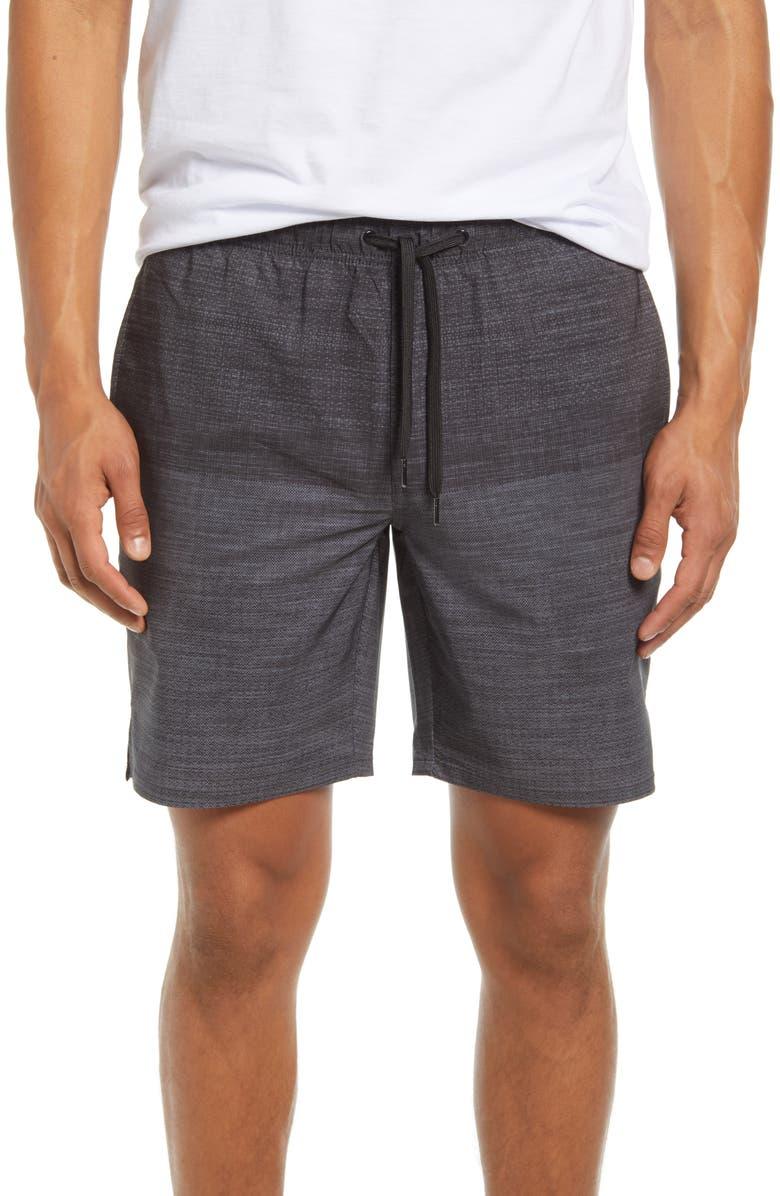 TRAVISMATHEW Zipline Shorts, Main, color, GREY PINSTRIPE/ BLACK