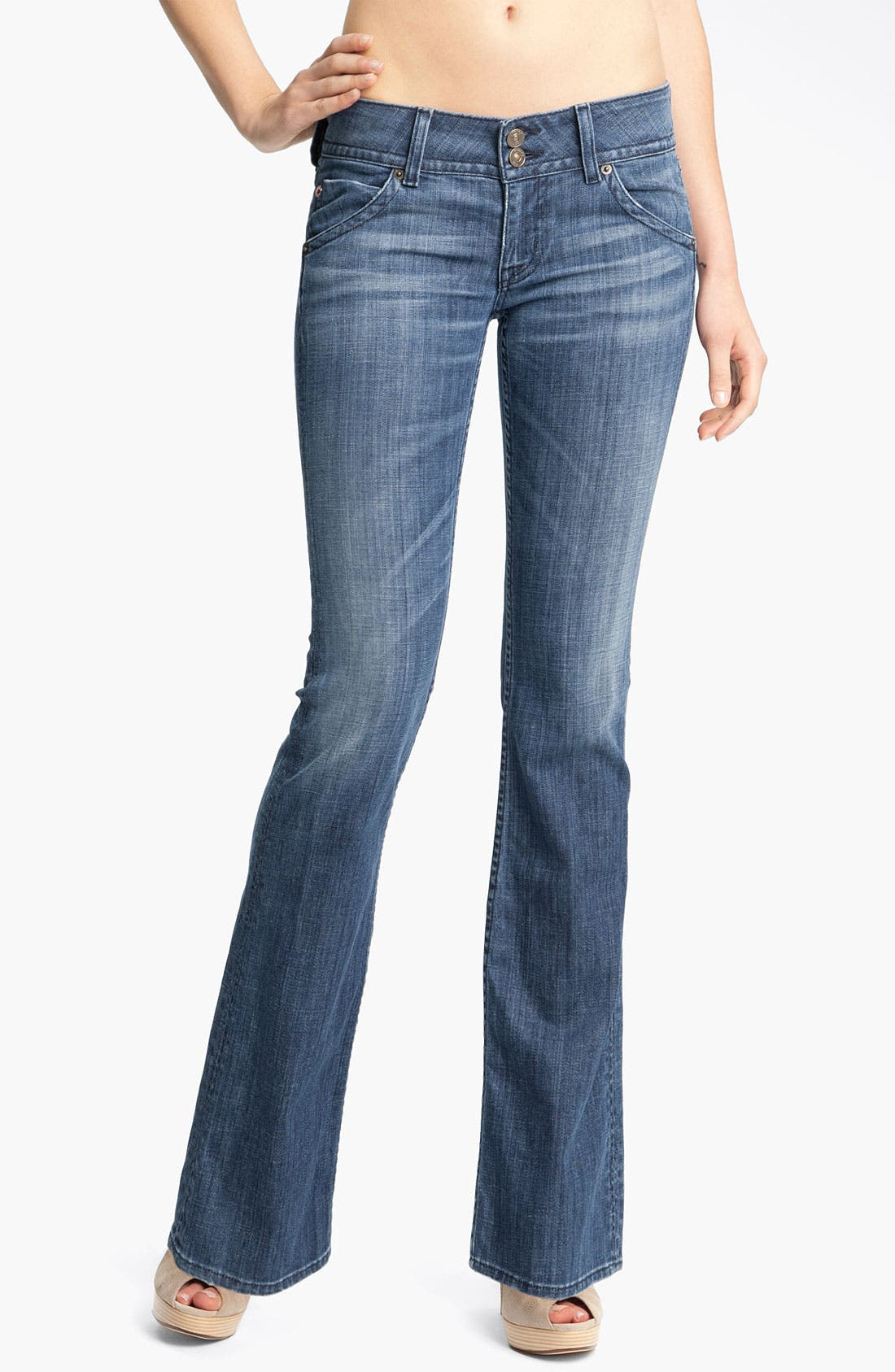 ,                             Signature Flap Pocket Bootcut Jeans,                             Main thumbnail 25, color,                             402