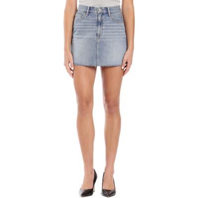 Mavi Jeans Lindsay Raw Hem Denim Miniskirt, Blue